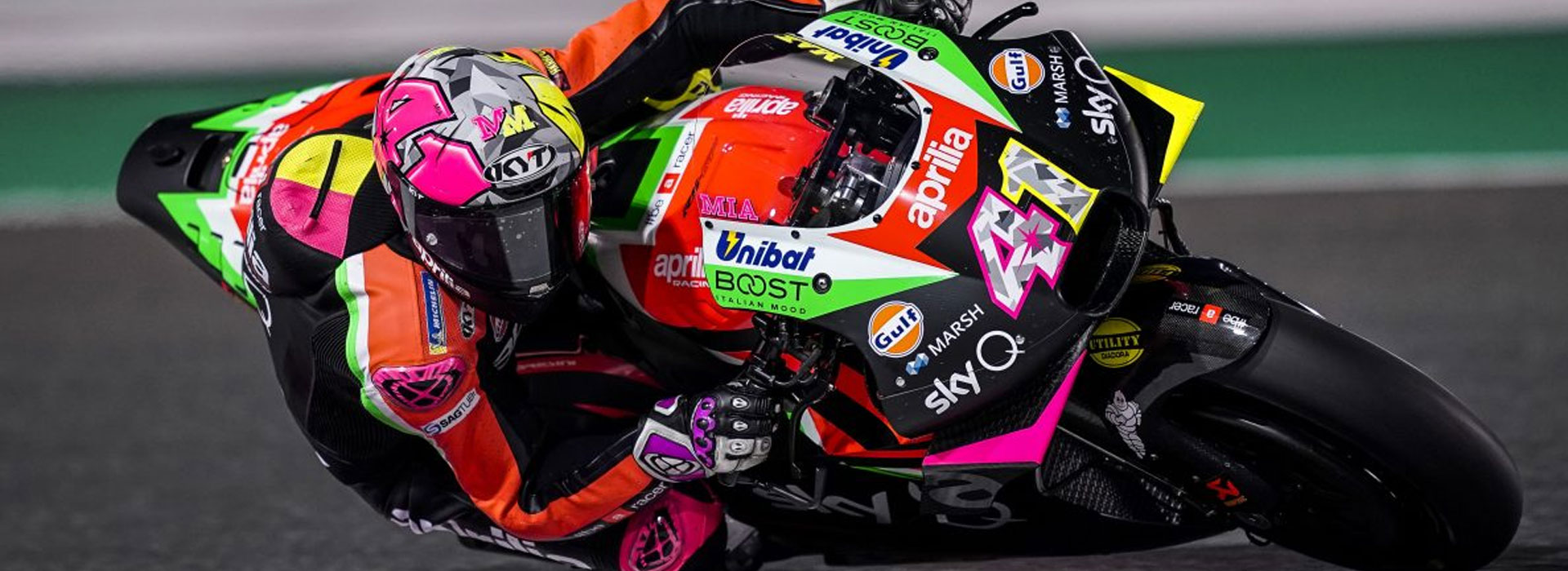 PROUD PARTNER OF APRILIA RACING